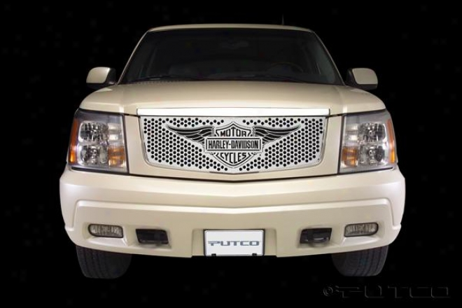 02-06 Cadillac Escalade Putco Grille Insert - Punch With Wings Logo
