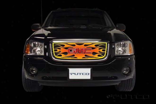 02-08 Enboy Putco Bright red Inferno Spotless Case-harden Grilles - 4 Color (painted)