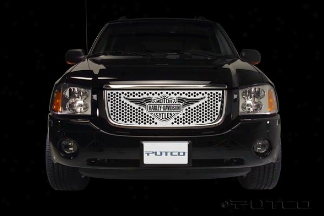 02-08 Gmc Minister Putco Grille Insert - Punch With Wings Logo 56133