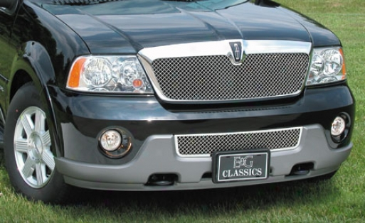 03-04 Lincoln Navigator E&g Classics Heavy Metal Mesh Upper Grille
