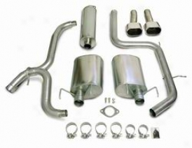 03-05 Grand Prix Corsa Exhaust System: 2003-2005 Pontiac Grand Prix; Full Cat Badk; Dual Exhaust With Wide Mouth Tip