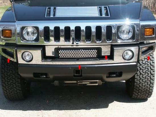 03-09 Hummer H2 Qualiity Front Bumper Cover Hv43008