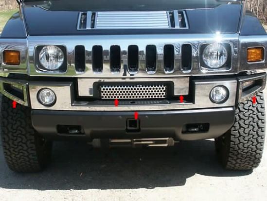 03-09 Hummer H2 Quality Front Bumper Cover Hv43009
