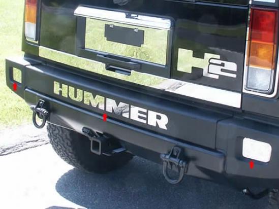 03-09 Hummer H2 Quality Rear Bumper Insrt Hv43001