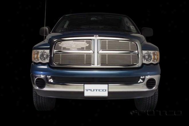 04-05 Dodge Ram 1500 Putco Grille Insert - Liquid With Classic Logo
