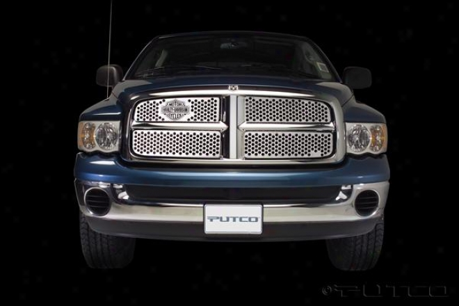 04-05 Dodge Ram 1500 Putco Grille Insert - Punch With Bar & Shield