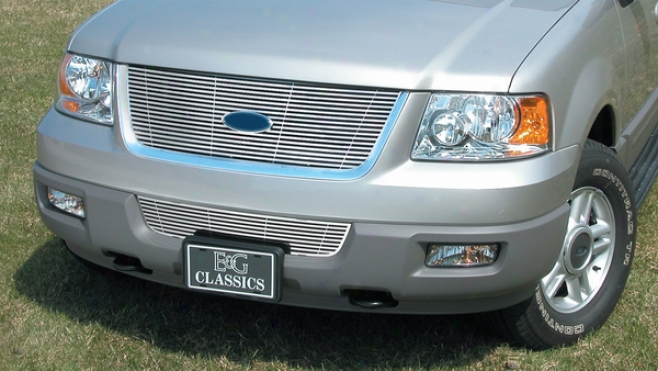 """04-06 Ford Expedition E&g Classics 2pc 1/4 X 1/4 """"q"""" Grille"""
