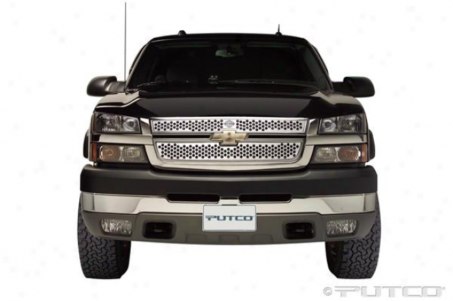 05-06 Silverado 1500 Putco Grille Insert - Punch With Bar & Shiepd