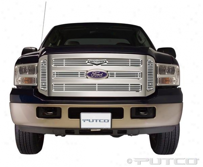 05-07 F-250 Super Duty Putco Grille Insert - Mellifluous With Classci Logo