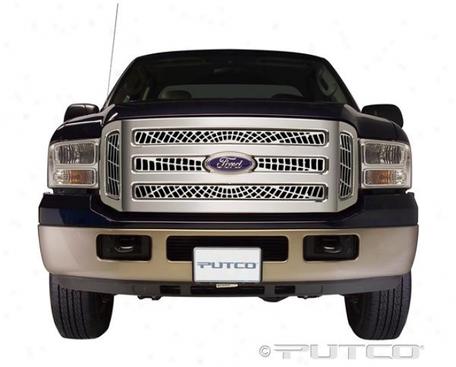 05-07 Ford F-250 Super Duty Putco Liquid Spider Web Grilles 303145