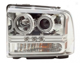 05-07 Ford F-350 Super Duty Anzo Head Light Assembly 111119