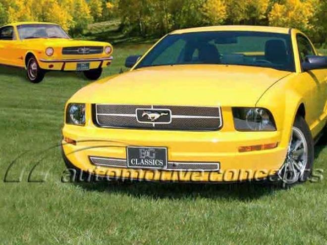 05-08 Ford Mustang E& gClassics Base Fine Mesh Grille 1049-0102-05