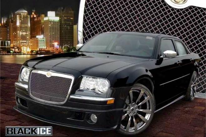 05-09 300 E&g Classics Chrysler 300/300c Heavy Mesh Grille Black Ice