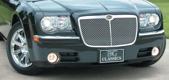 05-10 300 E&g Classics Chrysler 300/300c Heavy Metal Mesh Grille W/center Bar