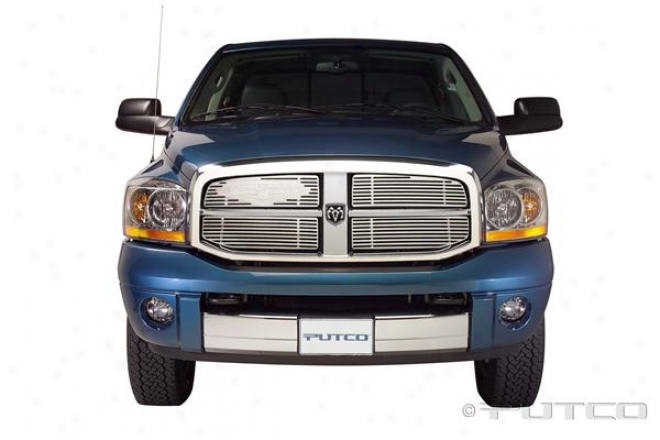 06-08 Dodge Ram 1500 Putco Grille Insert - Liquid With Classic Logo