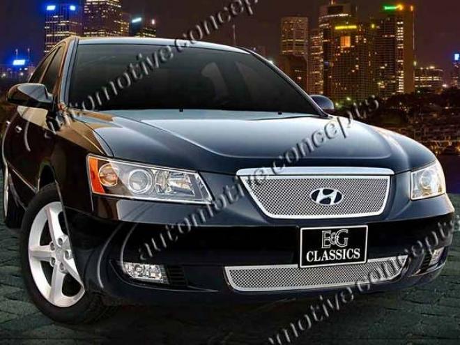 06-08 Hyundai Sonata E&g Classics Fine Ensnare Grille 1221-0102-06