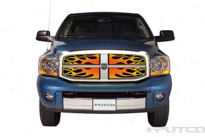 06-08 Ram 1500 Putco Flaming Inferno Stainless Case-harden Grilles - 4 Color (painted)