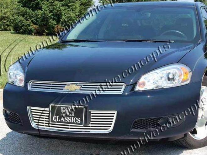 """06-09 Chevrolet Impala E&g Classics 2pc 1/4 X 1/4 """"q"""" Grille"""