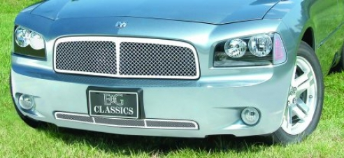 06-10 Start aside Charger E&g Classics Heavy Metal Mesh Grille W/center Bar