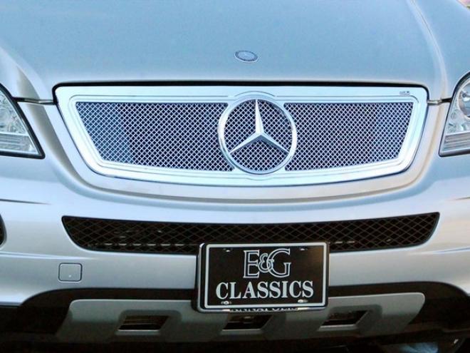 07-08 Mercedes-benz Ml320 E&g Classics Cnc Constituent Fine Mesh Grille