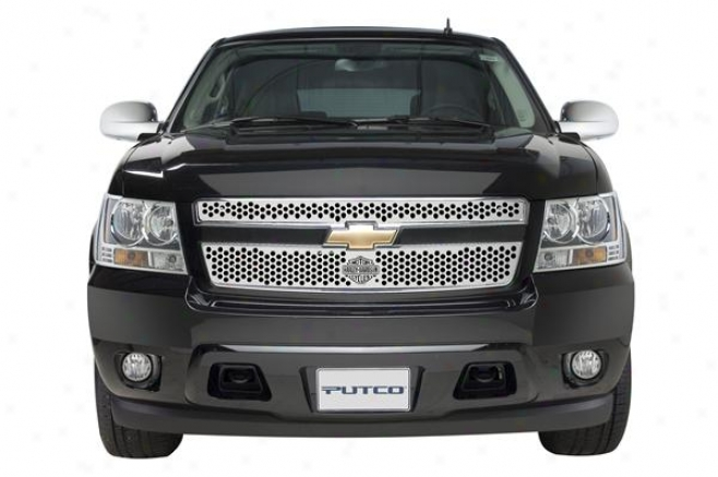 07-09 Avalanche Putco Grille Insert - Punch With Bar & Shield