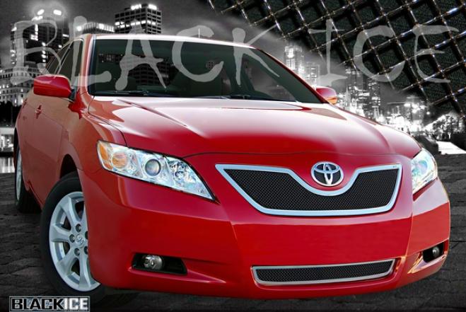 07-09 Toyota Camry E&g Classics 2pc Black Ice Fine Mesh Grille