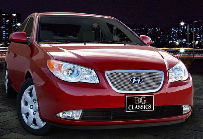 07-10 Hyundai Elantra E&g Classics 1pc Upper Fine Ensnare Grille