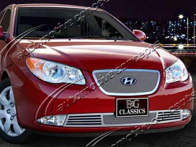 07-10 Hyundai Elantra E&g Classics 2pc Fine Mesh Grille 1280-0102-07
