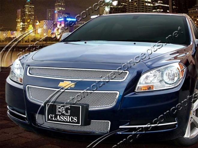 08-09 Chevrolet Malibu E&g Classics 3pc Fine Mesh Grille 1064-0102-08