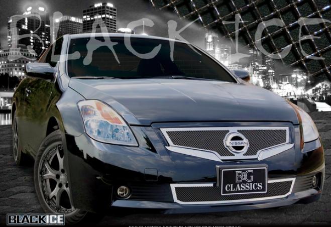 08-09 Nissan Altima E&g Classics 2pc Black Ice Fine Mesh Grile