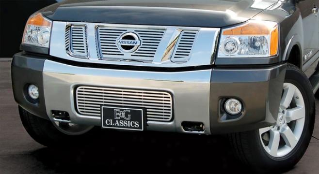 """08-09 Nissan Titan E&g Classics 1/4 X 1/4 Frown """"q"""" Grille"""
