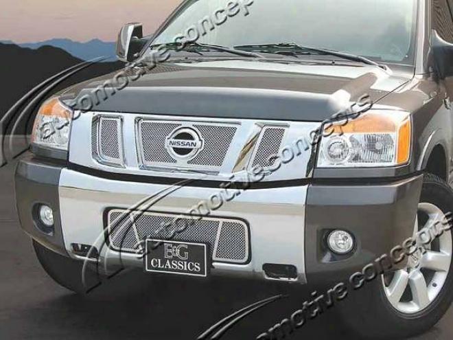 08-09 Nissan Titan E&g Classics Fine Mesh Grille 1324-0102-08