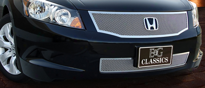 08-10 Acco5d E&g Classics 1pc Upper Fine Mesh Replacement Grille (Conducive to 4 And 6 Cyl Models)