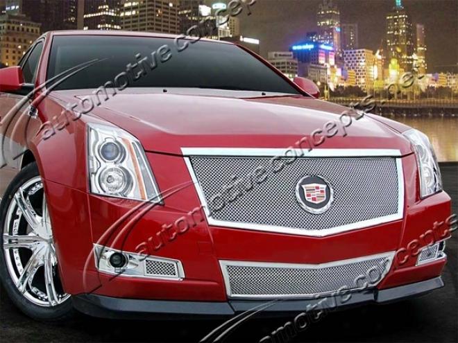 08-10 Cadillac Cts E&g Calssics Fine Mesh Grille 1007-0102-08e