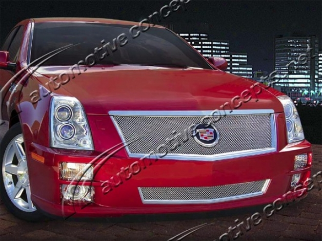 08-10 Cadillac Sts E&g Classics First-rate Fine Ensnare Grille 1006-0102-08