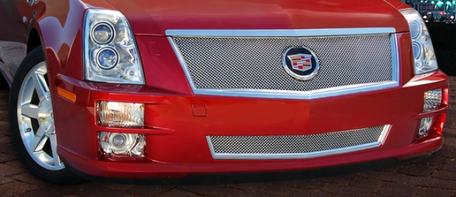 08-10 Cadillac Sts E&g Calssics Classic Lower Fine Mesb Grille