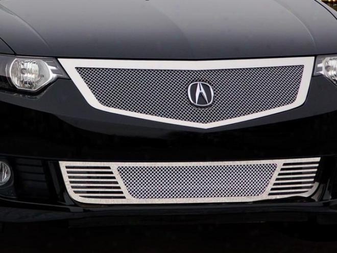 09-10 Acura Tsx E&g Clazsics 2pc Fine Mssh Grille 1405-0102-09