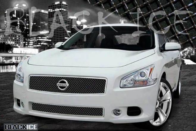 09-10 Nissan Maxima E&g Classics 2pc Black Ice Heavy Metal Mesh Grille
