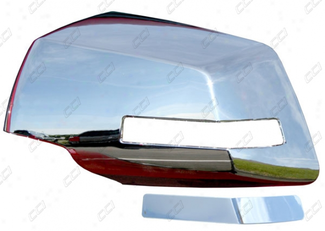 09-10 Traverse Coast To Coast International Chrome Abs 2 Piece Mirror Cover Full