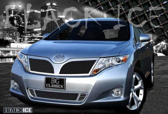 2009 Toyota Venza E&g Ckassics 2pc Black Ice Heavy Metal Mesh Grille