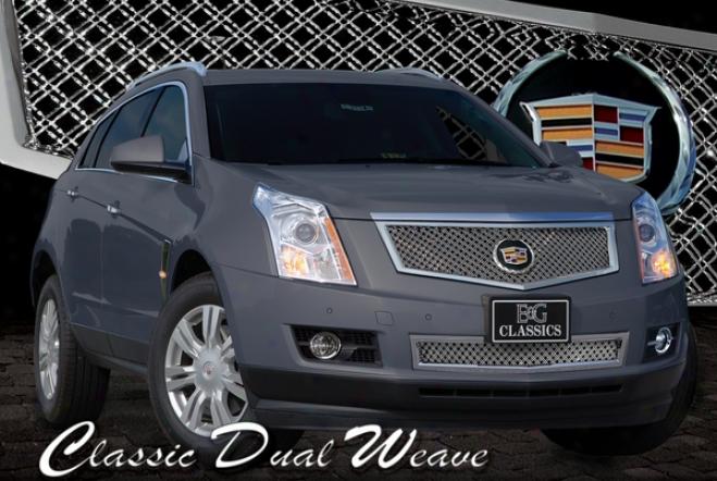 2010 Cadillac Srx E&g Classics Classic 2pc Dual Weavr Messh Grille