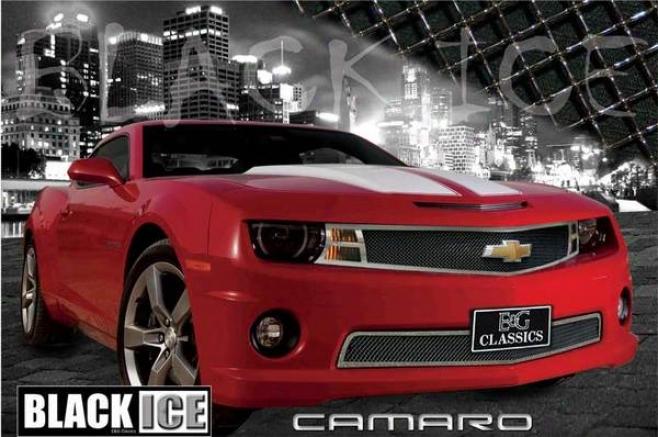 2010 Chevrolet Camaro E&g Classics 2pc Black Ice Fine Mesh Grille