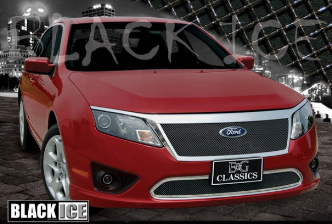 2010 Ford Fusion E&g Classics Upper Black Ice Fine Mesh Grille