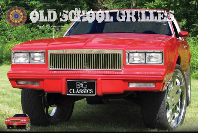 81-88 Chevrolet Monte Carlo E&g Classics Classic Grille - Silver