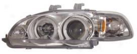 92-95 Honda Civic Anzo Head Light Assembly 121150