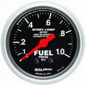 Auto Mete F uel Pressure Gauge 3311m