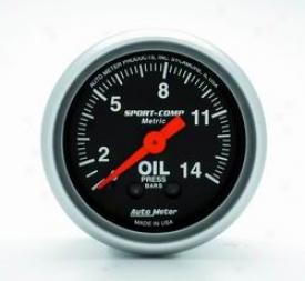 Auto Meter Oil Preswure Gauge 3322j