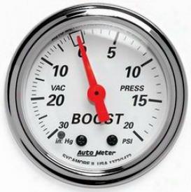 Total Univesal Auto Meter  Boost/vacuum Gauge 1372