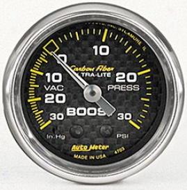 Universal Universal Auto Meter Boost/vacuum Gauge 4703