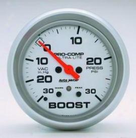 Universal Universal Auto Meter Boost/vacuum Gauge 4477
